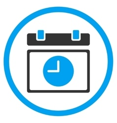 Time Schedule Rounded Icon vector