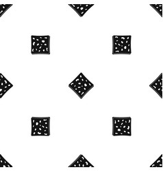 Tofu fresh block pattern seamless black vector