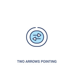 Two arrows pointing right and left concept 2 vector