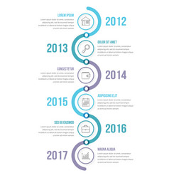 vertical timeline infographics template vector image