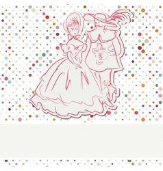 Vintage Romantic Couple Card vector image
