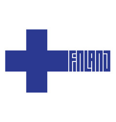 welcome to finland original print for t-shirt vector image