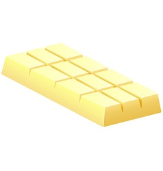 White chocolate bar on white vector
