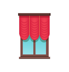Window template cute red blind colorful banner vector