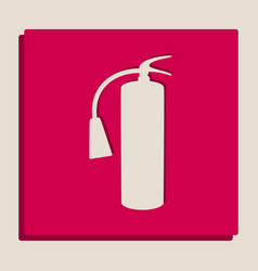 fire extinguisher sign grayscale version vector image vector image