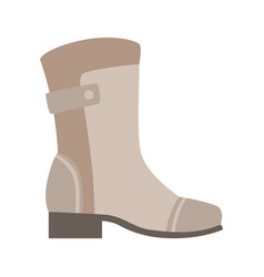 grey wellington boot isolated footwear flat icon vector image vector image