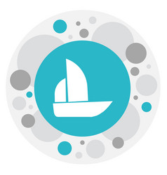 Of mixed symbol on boat icon vector