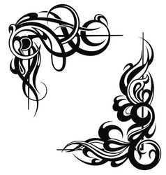 tattoo frame elements vector image vector image