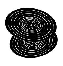 vinyl recordshippy single icon in black style vector image