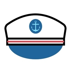 Captain hat with anchor vector image