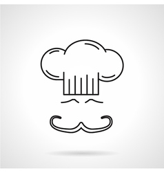 Chef black line icon vector image