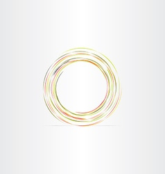 circle colorful abstract background vector image