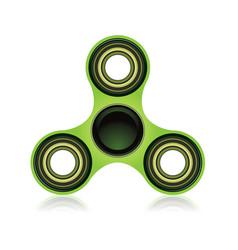 green fidget spinner focus toy vector image