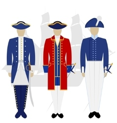 Officers of the Russian fleet-2 vector image vector image
