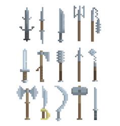 pixel art weapon vector image vector image