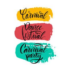 script logo carnivaldance festivalcarnival party vector image