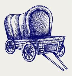 Vintage van to transport vector image vector image