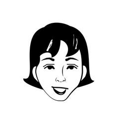 Cartoon woman character posture line vector