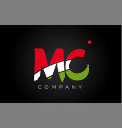 Mc m c alphabet letter logo combination icon vector