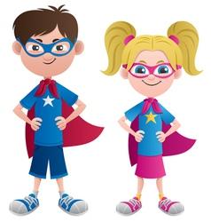 Super Kids vector image