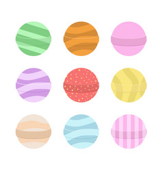 bath bomb cartoon set nature organic soap vector image vector image