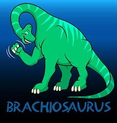 Brachiosaurus cute character dinosaurs vector image vector image