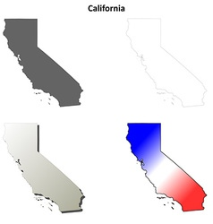 California outline map set vector image