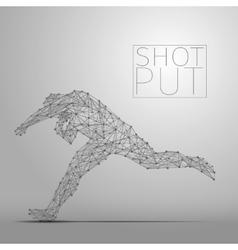 shot putter gray vector image vector image