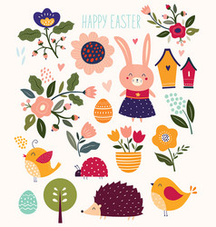 spring easter elements vector image vector image
