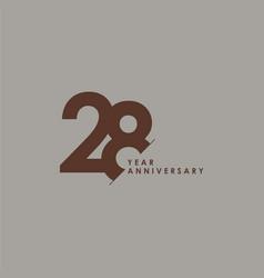 28 years anniversary celebration template design vector
