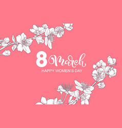 8 march women s day greeting card vector