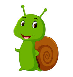 A smiling snail vector