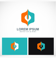 abstract shape colored business logo vector image