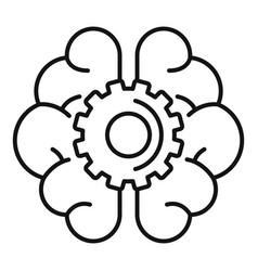 ai gear brain icon outline style vector image