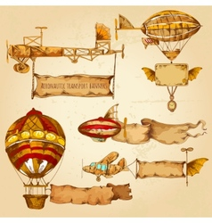 Airships With Banners vector image