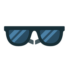 black sunglasses flat isolated vector image