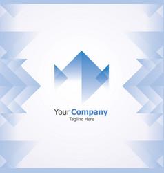 Blue company logo vector
