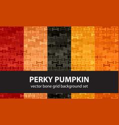 bone pattern set perky pumpkin seamless vector image