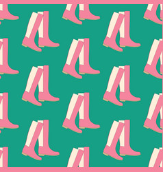 Boots shoes pattern vector