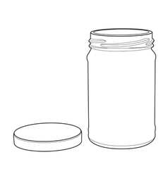 bottle glass out line vector image