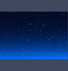 bright stars in blue dark night sky vector image