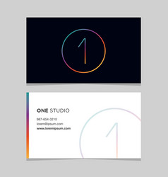 Business-card-number-1 vector
