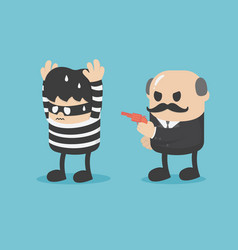 Business concept arresting a businessman who vector
