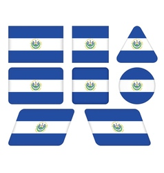 Buttons with flag of El Salvador vector