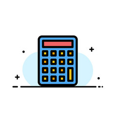 Calculator calculate education business flat line vector
