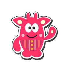 Cartoon monster icon vector