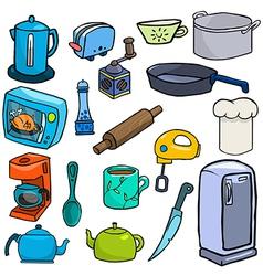 Cartoonish kitchen vector image