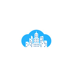 cloud town logo icon design vector image
