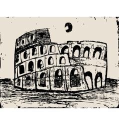 Coliseum doodle vector