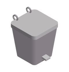 Colorful isometric dustbin vector image